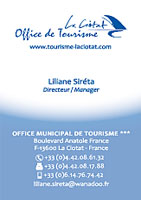 Conception De La Carte Visite Loffice Du Tourisme Ciotat