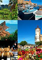 conception des cartes postales de l'office du tourisme de La Ciotat